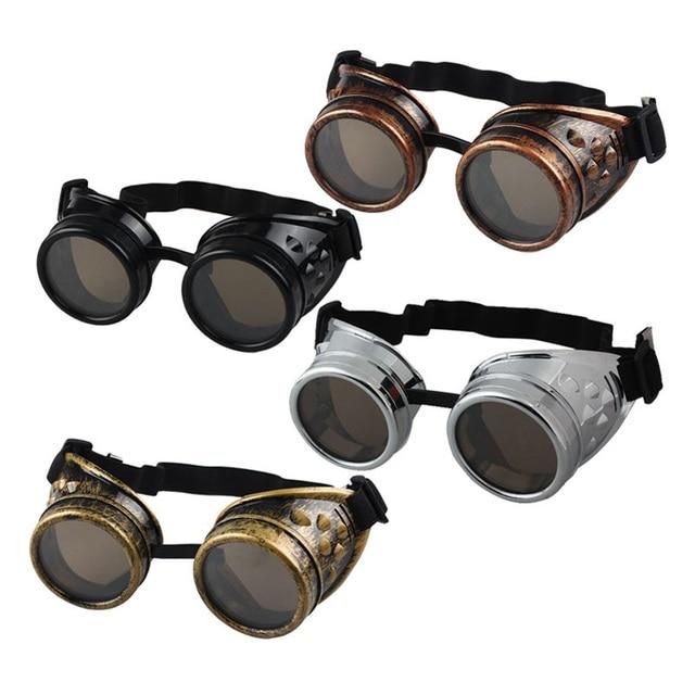 2018 חדש הגעה Vintage סגנון Steampunk משקפי ריתוך פאנק משקפיים קוספליי Freeshipping & סיטונאי סיטונאי מותג מעצב