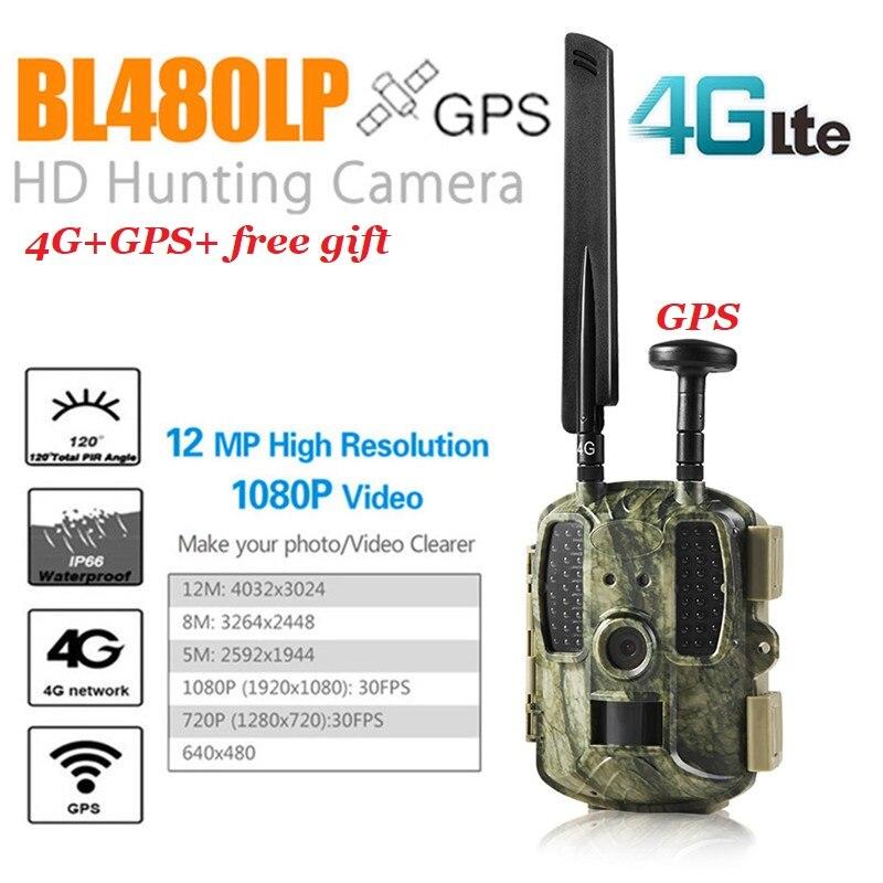Nuevo GPS cámara de caza cámara de vídeo Digital trampas de fotos 4G FDD-LTE caza Trail cámara trampa Wild Camera Hunter Foto Chasse