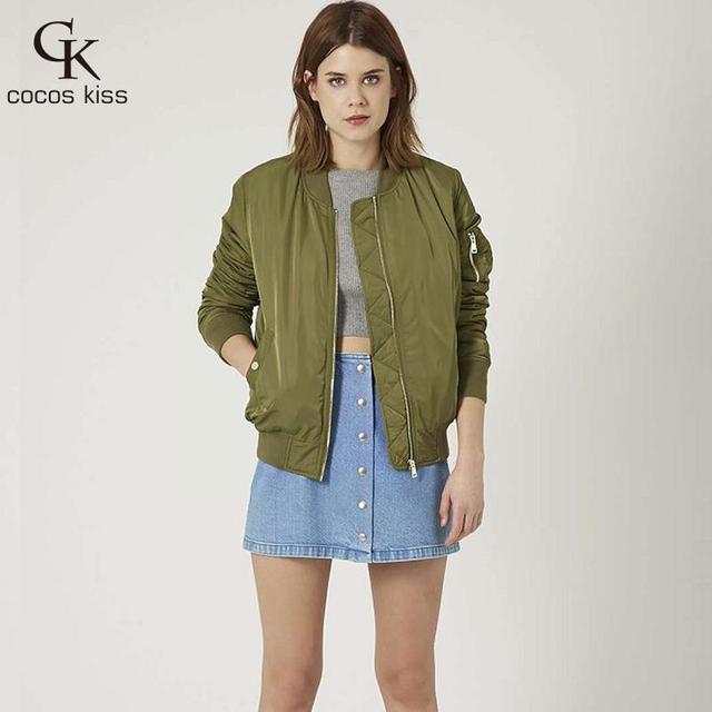 2016 nueva primavera otoño estilo de La Moda de Las Mujeres Capa Del collar Del Soporte sólido cremalleras chaqueta delgada 6 colores