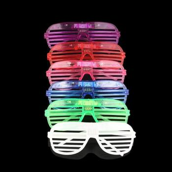 6color! led Fashion glasses Kids cos play action Game Toys Minecrafter Square Glasses with EVA case gifts for children image