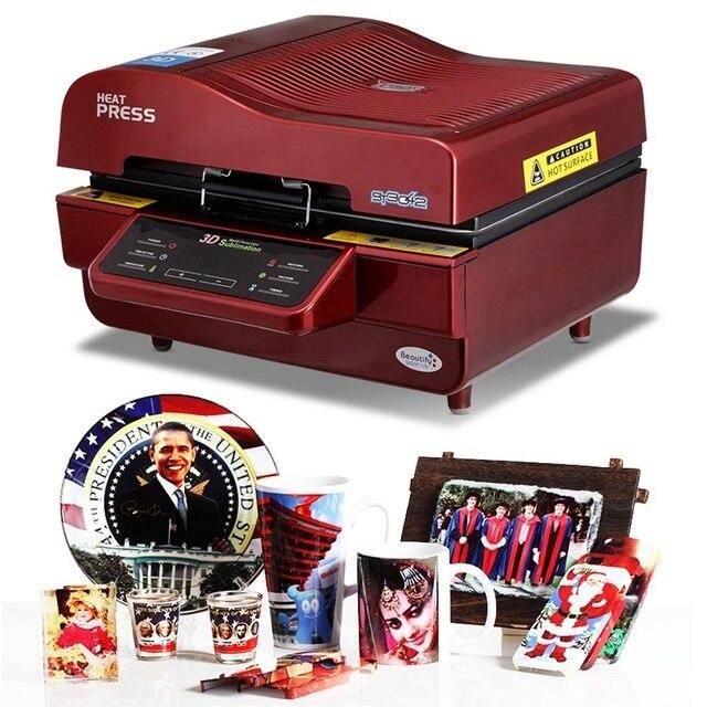 Máquina de vacío de sublimación 3D, máquina de sublimación/Prensa de calor, taza/camiseta/funda de teléfono móvil impresora, taza/máquina de impresión Digital