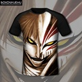 Anime T Shirts Men Printing Cartoon Cool  Bleach Men T-shirts Short Sleeve Tees   DT022