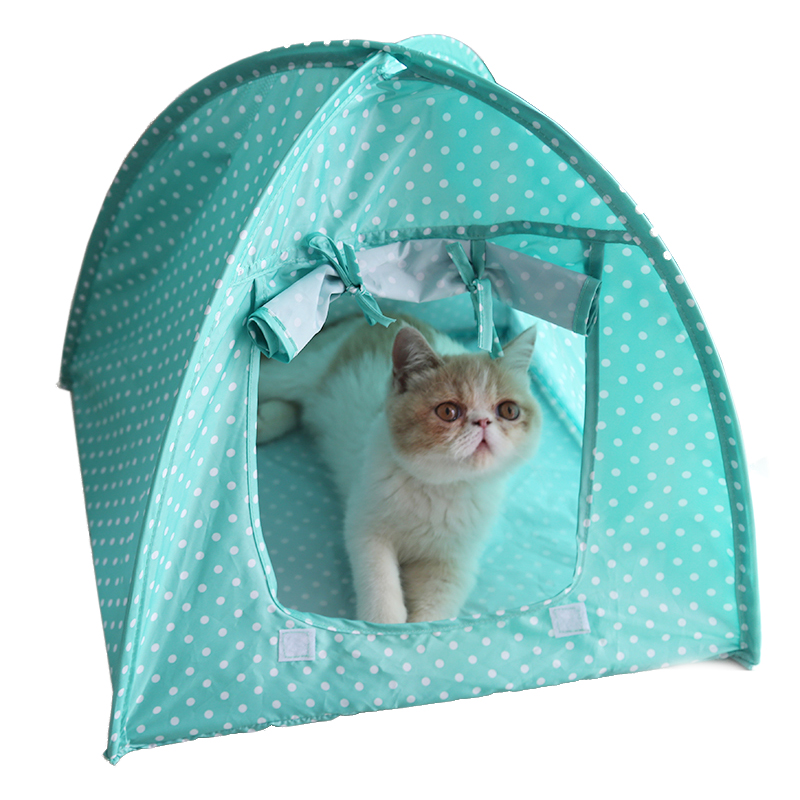 3 Colors Dots Small Pet Tent Portable Foldable Outdoor Waterproof Puppy Cat Kennel Tents Indoor Breathable Dog House 43*43*41cm-in Houses Kennels u0026 Pens ...  sc 1 st  AliExpress.com & 3 Colors Dots Small Pet Tent Portable Foldable Outdoor Waterproof ...