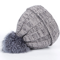 2016 Solid Beanies winter hats for Women cap fur pom pom