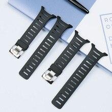 Mens rubber strap accessories T series for SUUNTO T1 T1C T3 T3C T3D T4C T4D waterproof and sweatproof silicone strap