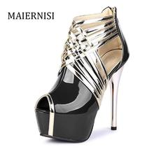 fashion beautiful women shoes high heel 14 cm red bottoms waterproof ultra heels with soles women shoes size 35 – 44