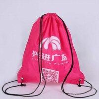 Пользовательские печати полиэстер drawstring сумка (300 шт./лот) 30x40 см мешок подарков Обувь сумка для хранения рюкзак на шнурке