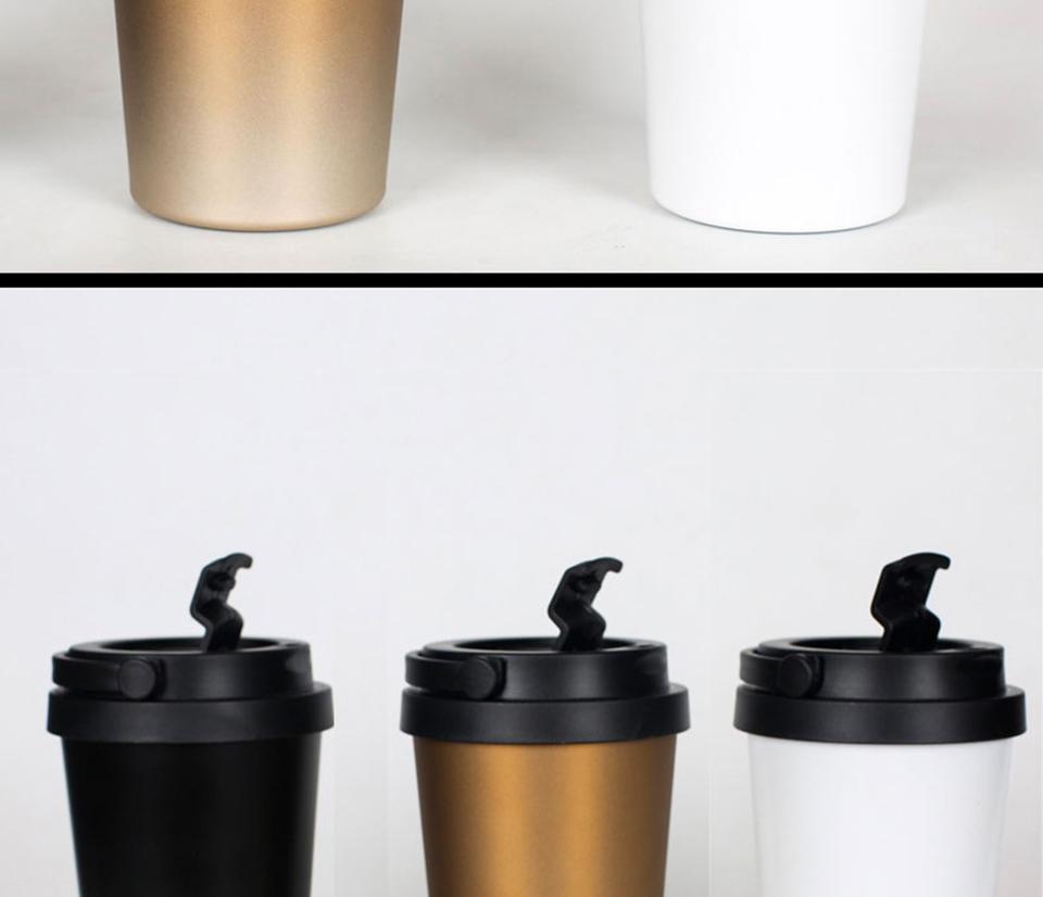 LIYIMENG 500mL Office Travel Coffee Mug 304 Stainless Steel Classical Mug Milk Tea Cup Water Bottle 4