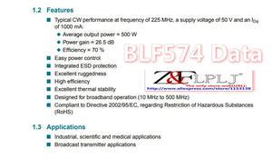 Image 2 - BLF574 BLF 574/A 500 W à 600 W 50V 26.5dB transistor de puissance LDMOS (non neuf) utilisé 1 pièces/lot