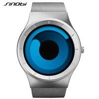 SINOBI 2016 Mens Watches Top Brand Luxury Stainless Steel Mesh Strap Quartz Watch Men Fashion Aurora