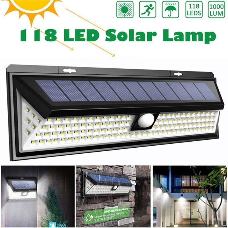 Worldsky 1000lm 46 Led Garden Light Led Solar Light Outdoor Lighting Lamp Pir Human Body Motion Sensor Ip65 Waterproof Wall Lamp Outdoor Lighting