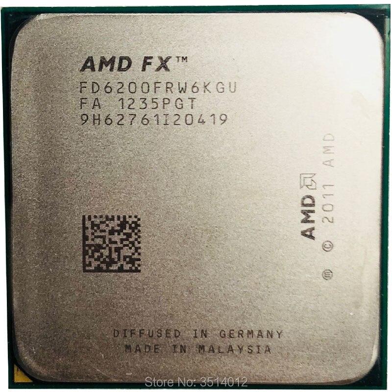 AMD FX Series FX 6200 FX 6200 3 8 GHz Six Core CPU Processor FD6200FRW6KGU Socket