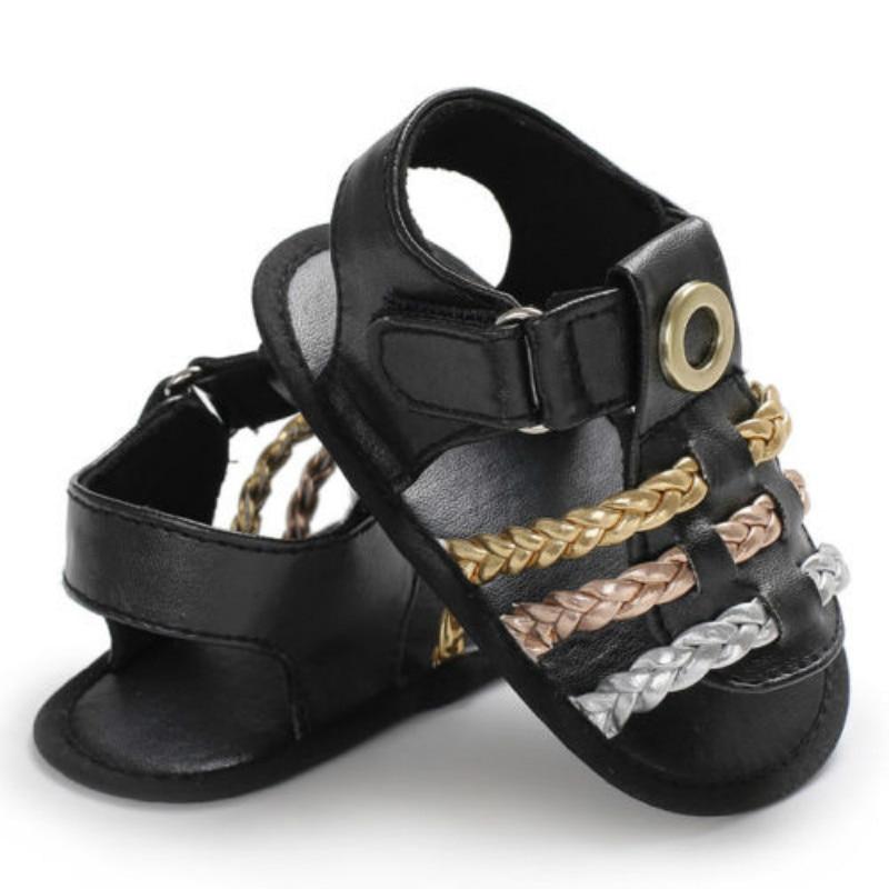 Infant Baby Girls Summer Crib Walking Sandals Infant New Soft Shoes 0-18 Months