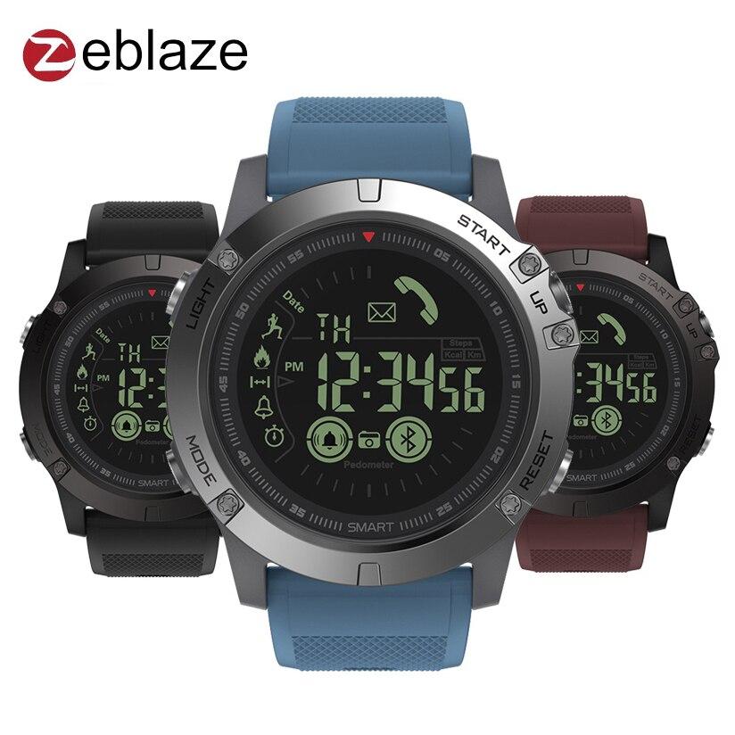Zeblaze VIBE 3 GMT dos lugares todo el día la actividad de registro deporte 33 mes espera información recordatorio reloj inteligente ver