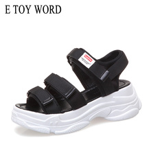 E TOY WORD Women Sandals Summer Shoes Casual Beach thick-soled gladiator sandals women Comfortable Sandalias Mujer 2019