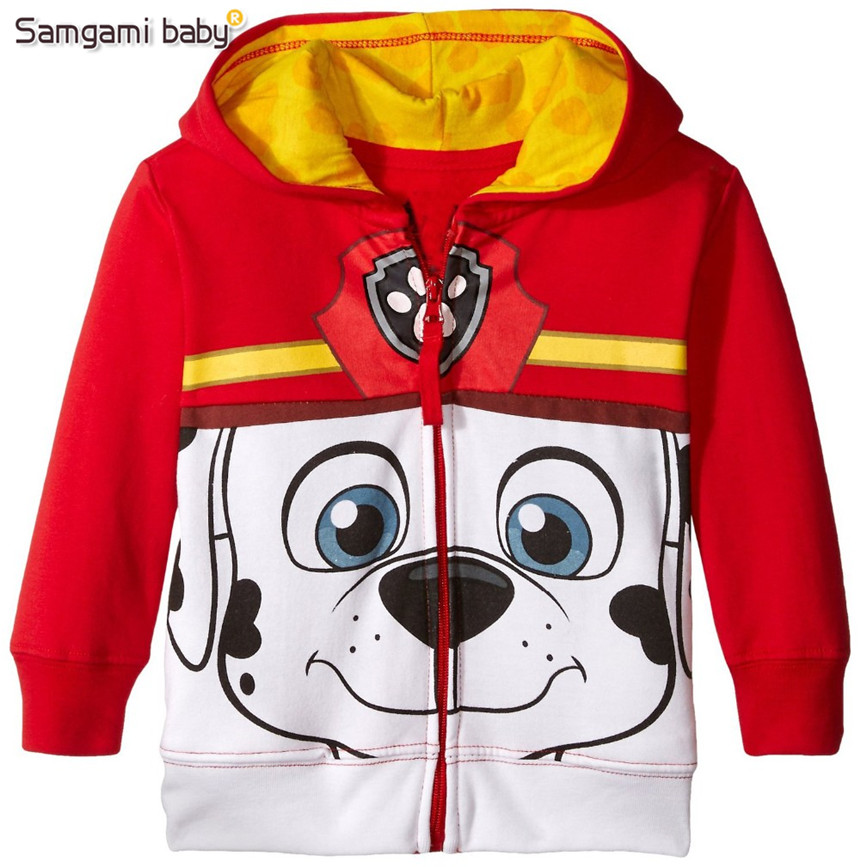 SAMGAMI BABY Riley Anderson Fashion Autumn Kids Cartoon Jeckets Boys and Girls Cotton Fleece Warm Jackets Kid Casual Hooded Coat