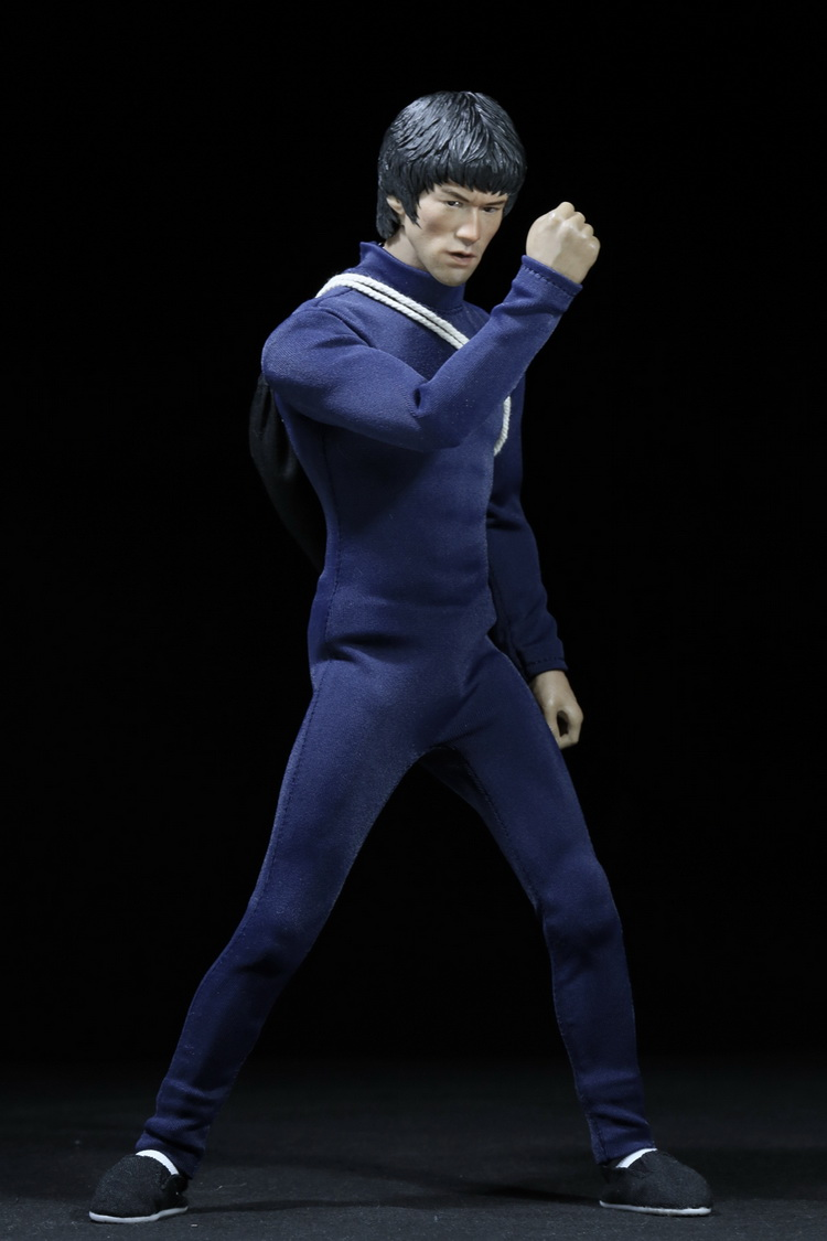 1:6 Scale male Figure Accessory clothes Bruce Lee suit+shoes+stick for 12 Action figure doll,not include head and body 2846 1 6 soldier clothes death game bruce lee suit head carving fit 12collectible doll toys accessories