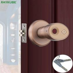 RAYKUBE Knop Elektronische Slot Vingerafdruk Smart Keyless Nachtslot Voor Home Office Gemakkelijk Installatieprocedure Vervangen R-S178
