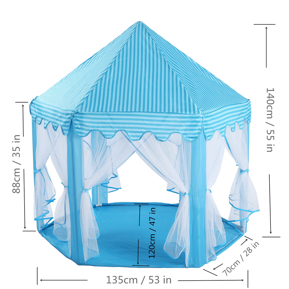 Folding Princess Castle Hexagon Play Toy Teepee Children Game House Kids Indoor Outdoor Playhouse Portable Beach Tent Baby Gifts mrpomelo children indoor indian teepee play house solid blue garden game playhouse 100