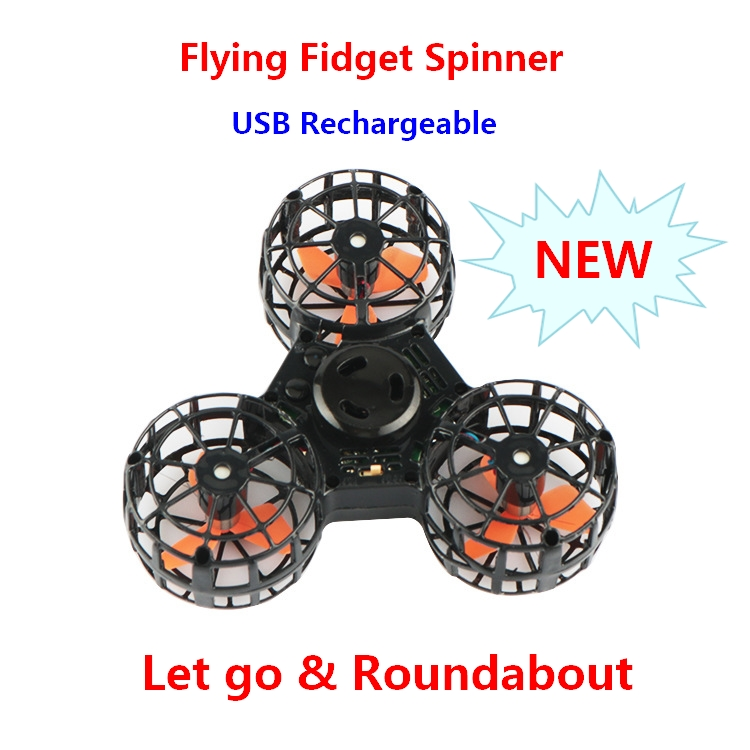 New Stress Reliever Magic Floating Flying Spinner Mini Rechargeable Automatic Rotatable Flying Spinning Top Finger Spinner Toys
