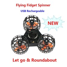 New stress reliever magic floating flying spinner Mini Rechargeable Automatic Rotatable Flying Spinning Top Finger Spinner Toys(China)
