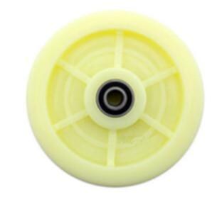 7.5 190 x 42mm 7.5 x 1.7 Iron Core Nylon Caster Roler Wheel Ivory 17mm Inner Diameter hand trolley part ivory nylon single wheel fixed plate caster 5