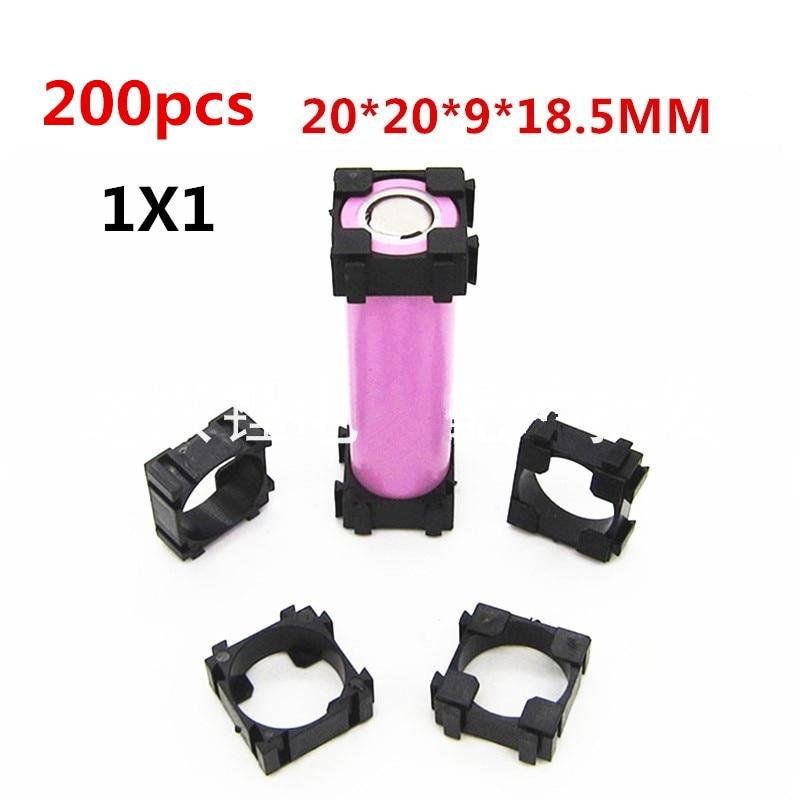 18650 Battery Holder Bracket Cylindrical Battery Holder 18650 Li-ion Cell Holder Safety Anti Vibration 18650 Plastic 200pcs