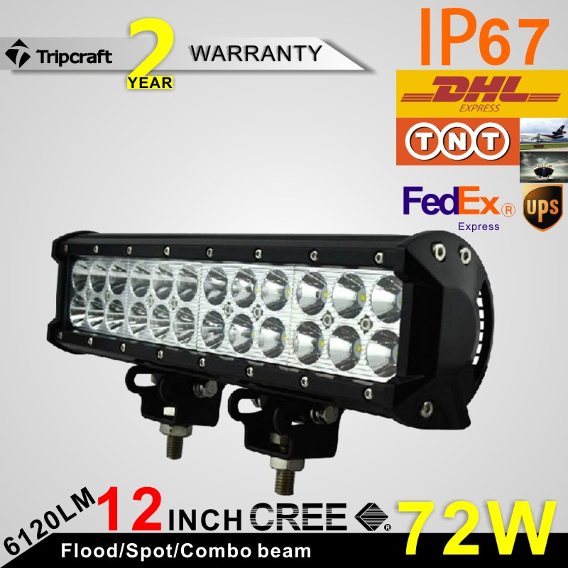 ФОТО 2PCS 2 Row 12 Inch 72W LED Working Light for Led Ramp Lamp car accessories Off Road 4WD 4x4 Truck SUV ATV Fog Light 10V