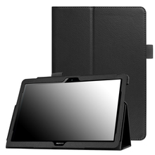 Ultra Slim Folding Stand PU Case for Huawei MediaPad T3 10 AGS-L09 AGS-L03 Honor Play Pad 2 9.6 inch Tablet Funda Cover+Film+Pen case for huawei mediapad t3 10 ags w09 ags l09 ags l03 9 6 cover funda tablet for honor play pad 2 9 6 slim flip case film pen