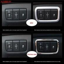 car Interior Refit products accessory Headlight switch frame covers Chromium styling decoration For Hyundai Creta ix25 2014-2017