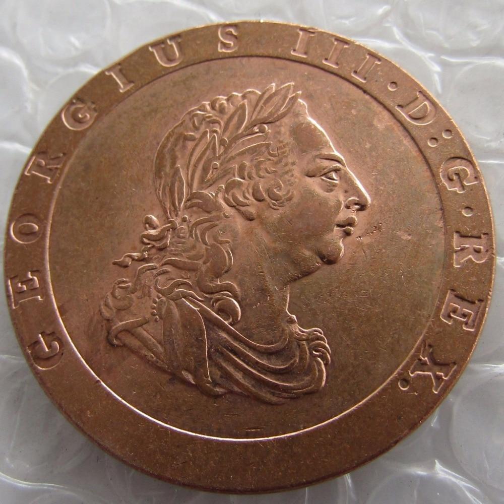 """GEORGE III """"CartWHEEL"""" TWOPENCE, 1797"""