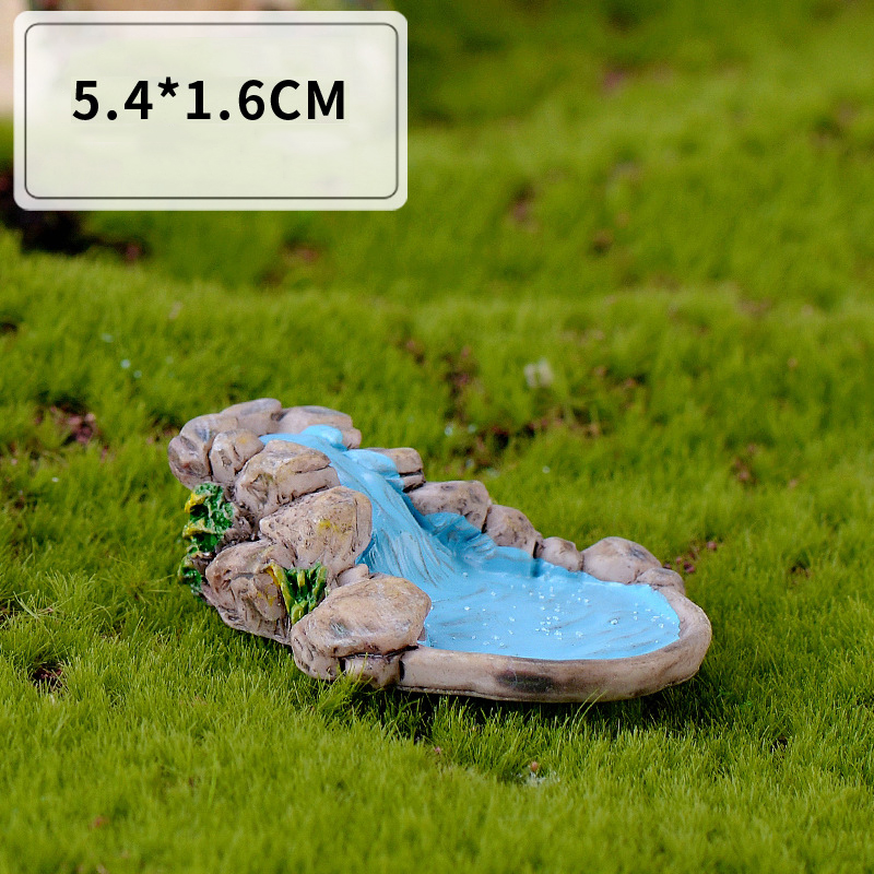 1pc DIY Fairy Micro Landscape For Garden Lawn Mountain Stream Ornament Home Garden Furniture Minature Craft Accessory