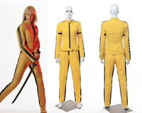 New Arrival Kill Bill The Bride Cosplay Costume Uniform Yellow Fight Suit Jacket