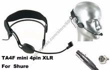 MICWL ME3-ULX Condenser Head Headworn Wearing Headset Microphone For Shure Wireless