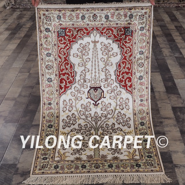 Yilong 25x4 Handknotted Persian Elegant Carpet Turkish Oriental
