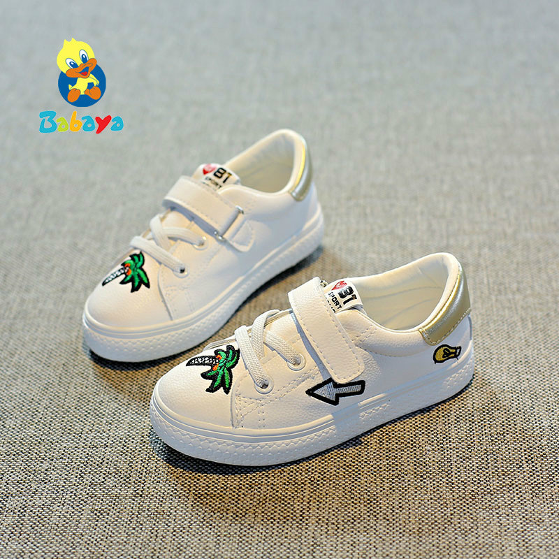 Children autumn shoes for girls and boys children sports shoes toddler fall 2017 new autumn pring fashion white kids shoes