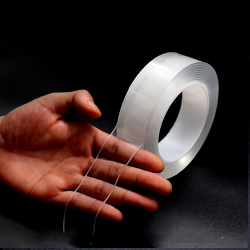 1 Roll Hot Sell Magic Transparent Double-sided Tape Grip Tape Super Sticky Washable High Strength No Traces Tapes 1m*30mm*2mm car