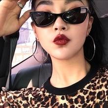 Fashion Small Square Cat eye Sunglasses Ladies Men 2018 New Luxury Brand Black Triangle Glasses 7 Colors