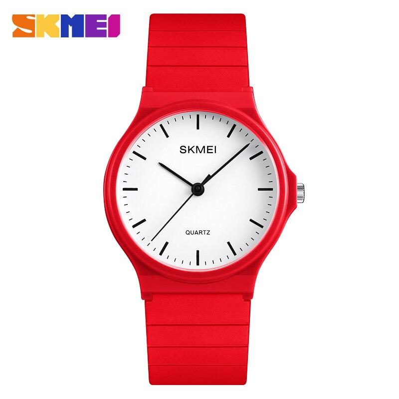SKMEI Fashion Casual Quartz Watch New Women Watches  Female PU Strap Waterproof Sport Wristwatches Ladies Relogio Feminino
