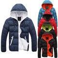 Slim NEW men Moda Casual Jacket Com Capuz Inverno Quente Casaco Grosso Parka Casaco Com Capuz Quente
