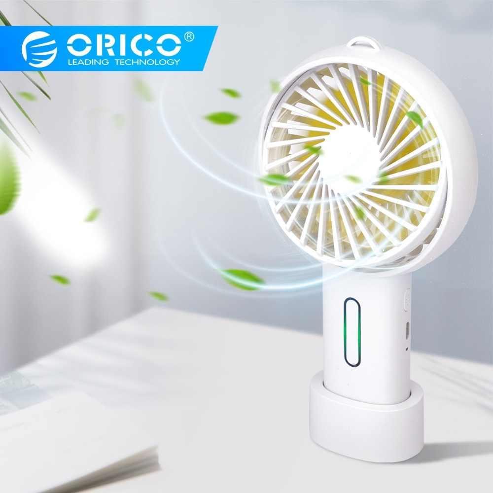 ORICO مروحة يو إس بي برودة Adajustable المحمولة البسيطة USB تبريد الهواء مروحة المحمولة سطح المكتب مكتب مروحة المزدوج استخدام المنزل طالب عنبر
