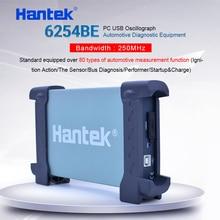 Osciloscópio digital hantek 6254be 250 mhz de largura de banda osciloscópios automotivos carro detector 4 canais 1gsa/s usb pc osciloscopio