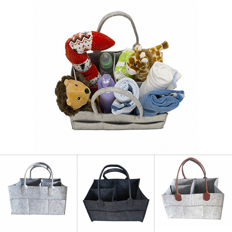 High Quality Baby Diaper Caddy - Nursery Storage Basket Car Organizer for Diapers and Baby Wipes