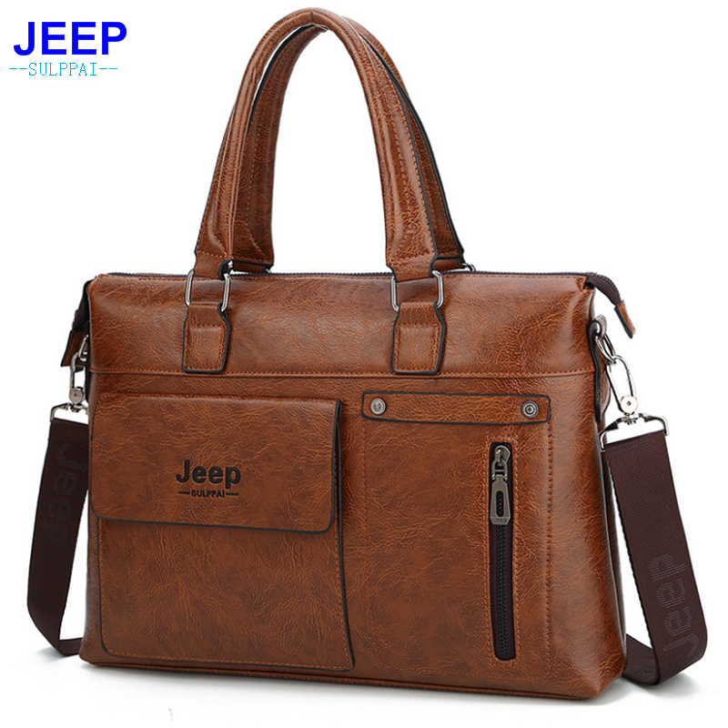 JEEP Sulppai Men Briefcase with Top Quality Pu Leather Men Laptop Bag Men Crossbody Bag for Hot Sale Fashion Men HandbagJEEP Sulppai Men Briefcase with Top Quality Pu Leather Men Laptop Bag Men Crossbody Bag for Hot Sale Fashion Men Handbag