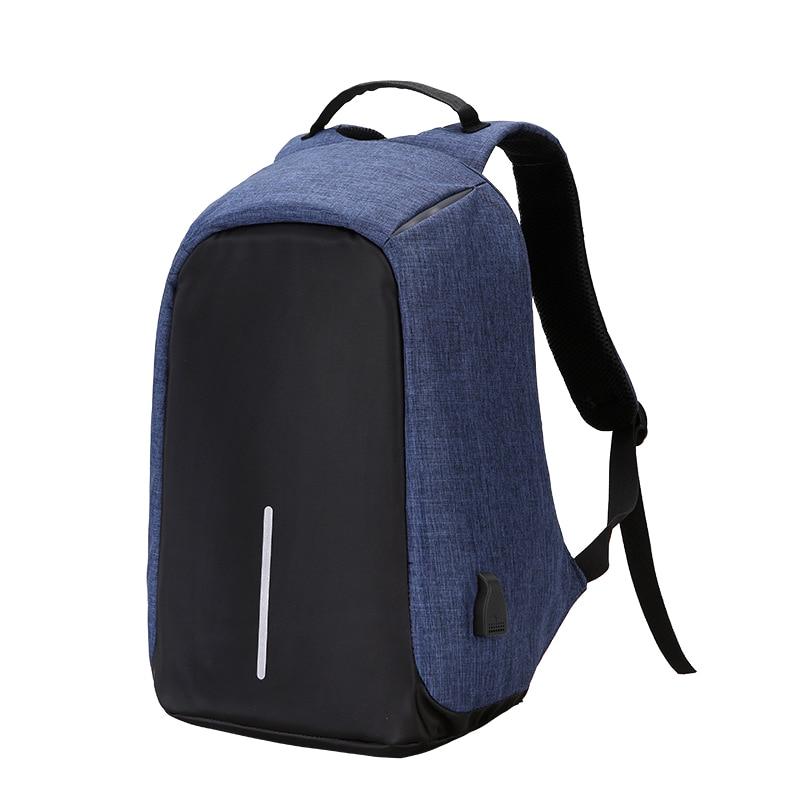 Canvas Shoulder Bag Anti Theft Backpack Women Men Waterproof USB Charging 15.6 inch Travel Laptop Backpack School Bags Male dtbg laptop backpack brand 15 6 17 17 3 inch computer bag for men women anti theft backpacks waterproof travel school bags kids
