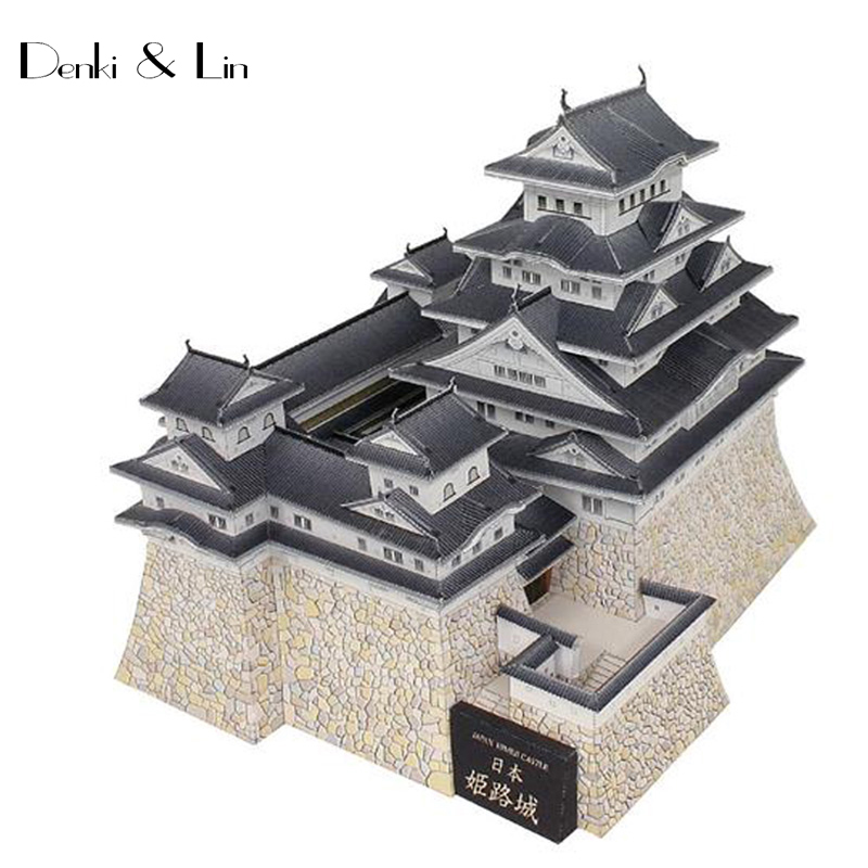 DIY 3D Japan Himeji Traditional Castle Craft Paper Model Architectural Assemble Hand Work Puzzle Game DIY Kids Toy