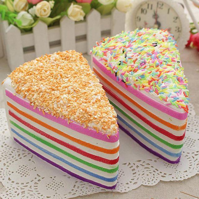 Jumbo Rainbow Fake Cake Decorating Strap Crumble Fusion Kawai Slow ...