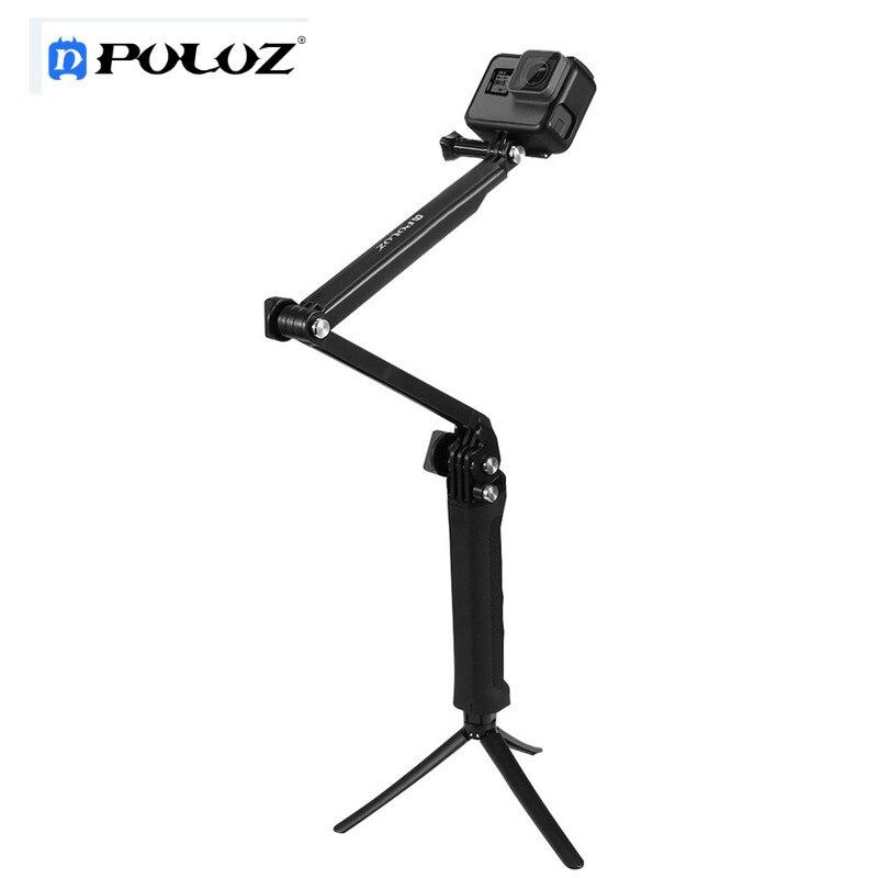 Für Gopro Hero Zubehör Puluz 3 Way Schwimmdock Handle Grip Stativgewinde Selfie Stick für Go pro HERO 5 4 3 + 3 2 1 zubehör