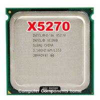 Original INTEL xeon X5270 CPU 3.5 GHz/LGA775/6 MB L2/Dual-Core/FSB 1333 MHz CPU con dos adaptadores de 771 a 775