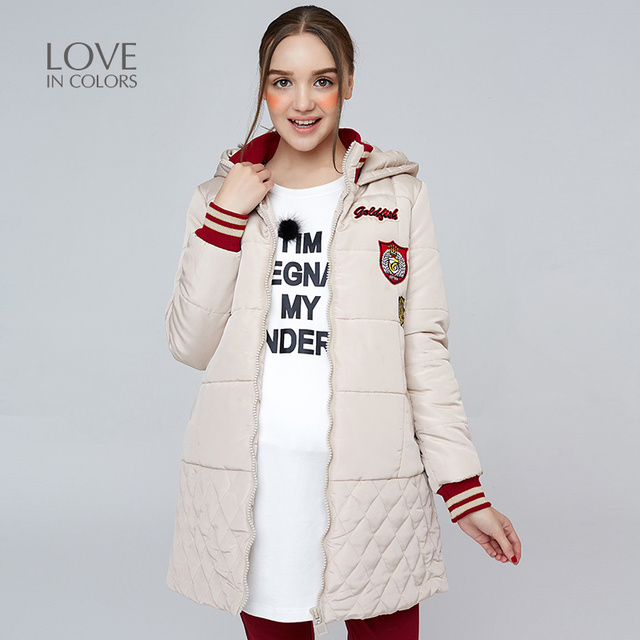 3f3a8d86d New Fashion Pregnancy Coats Women Hooded Solid Winter Warm ...